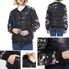 Piumino Cappotto Giacca Donna Fiori Woman Flower Sleeve Coat Jacket JAC0025