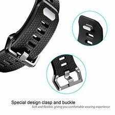 Soft TPU Strap Band for Fitbit Ionic Sport Bracelet Watch Wristband Black S NEW