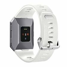 Soft TPU Strap Band for Fitbit Ionic Sport Bracelet Watch Wristband White L NEW