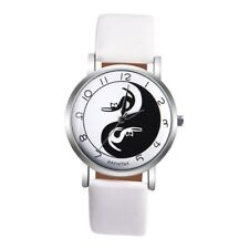 Cute Lady Women's Cat PU Leather Band Wristwatch Analog Quartz Wrist Watch