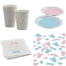 Baby Shower Party Little Miss or Mini Mister, Cups, Plates, Napkins, Confetti