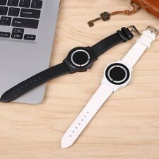 Women's Black White 2-Colors Watches Leather Band Wristwatch Wrist Watch Gifts
