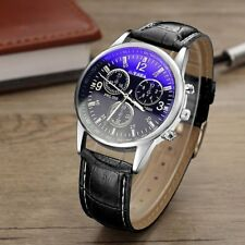 Male Men's Watches Casual Quartz Watch Sports Wristwatch Leather Band Gift