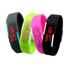 LED Smart Watch Bracelet Red Digital Display Rectangle Wrist Band Luminous