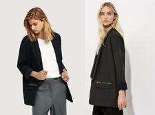 Kit and Ace Ladies Black Charcoal Borrowed from the Boys Blazer Jacket RRP $310