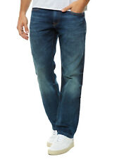 Cross Jeans Herren Jeans Straight Fit 'Antonio' Knopf mit RV neu blau