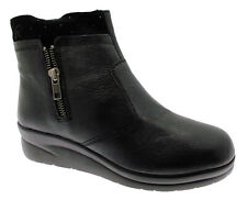 75906 stivaletto nero zeppa ancke boot donna Riposella