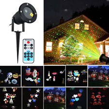 Moving LED Laser Projector Lamp Landscape Garden Star Light Xmas Party Outdoor