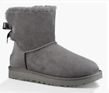 UGG scarpe STIVALETTO DONNA MINI BAILEY BOW 1016501 CAMOSCIO GREY AI17