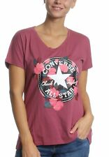 Converse donna t-shirt floreale TOPPA 10004655 ROSSO 686