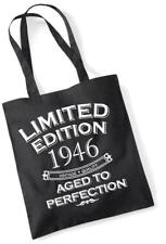 72nd Birthday Gift Bag Tote Shopping Limited Edition 1946 Aged To Perfection Mam