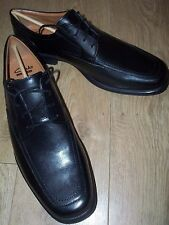NEW Mens Clarks HICKLEY SPRING Leather Shoes Size UK 10G Wide fit