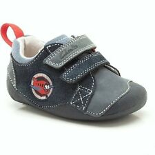 Clarks Tiny Wing Infant Boys 2F, 2H & 2.5H Navy Blue Leather/Suede First Shoes