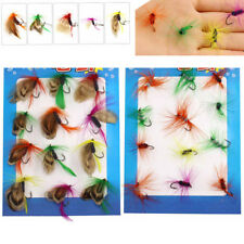 24pcs Fly Fishing Flies Set Tackle Dry Wet Fly Lure for Trout Bass Salmon Fish