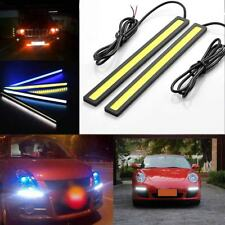 2x 12V LED STRIP DRL DAYTIME RUNNING LIGHTS FOG COB CAR LAMP WHITE DAY DRIVING U