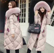 New Fur Collar Hooded Coat Quilted Jacket Winter Women's long Down Cotton Parka