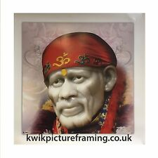 """Sai Baba Of Shirdi Photo Picture Framed - 16"""" x 16""""  Inches 
