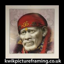 """SaiBaba Of Shirdi Hindu God Picture Framed In Size - 10"""" X 10"""" 