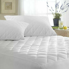 Extra Deep Quilted Mattress Protector Topper Fitted Cover Anti Allergy Cotton