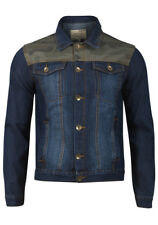 """Denim Jacket with Camouflage Insert by Brave Soul - Size L chest 40""""-42"""" inches"""