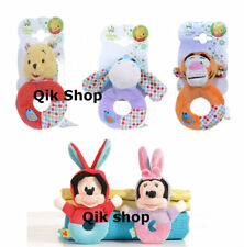 Posh Paws Disney Baby Minnie Mickey Mouse Winnie the Pooh Ring Rattle 0 Months