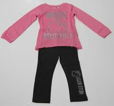 Hello Kitty Set Tunica Leggins rosa-grau Sanrio Mädchen 104,116,128,140