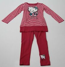 Hello Kitty Set Tunika Leggins rosa-pink Sanrio Mädchen 116,140