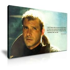 BLADE RUNNER Rick Deckard & Quote Stretched Canvas ~ More Size ~