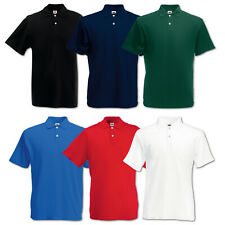 5er Fruit of the Loom Poloshirt Original Polo T-Shirt Herren Shirts Gr.S-XXXL
