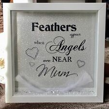 Personalised Memorial Feathers Appear When Angels Are Near Frame Gift