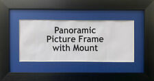 New Panoramic Picture Poster Frames - Blue Mount | Multiple Sizes Photo Frames