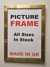 Gold Manhattan Picture Frames 20 mm wide, All Sizes | Photo Poster Frames U.K.