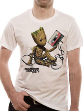 Official Marvel Guardians Of The Galaxy Vol 2 BABY GROOT & TAPE T-Shirt Tee NEW