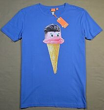 NWT MENS HUGO BOSS BLUE ICE CREAM I SCREAM SHORT SLEEVE CREW T SHIRT SZ XL, 2XL