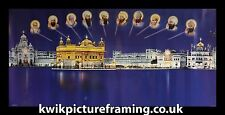 """Harmandir Sahib Golden Temple Evening Picture Photo Framed Size 40"""" X 20"""" inches"""