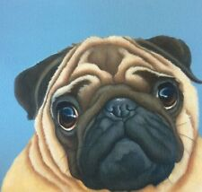 fawn pug painting fine art giclee print picture