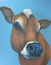 jersey cow painting fine art giclee print