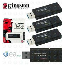 KINGSTON Pendrive DT100G3 16GB 32GB 64GB USB 3.0 Chiavetta Memoria ORIGINALE