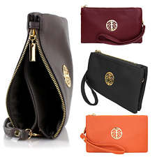 Small Clutch Bags with Wristlet and Long Adjustable Strap - Womens Handbags