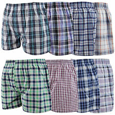Mens Woven Boxer Shorts Loose Fit Cotton 3 6 12 24 Underwear Pants Lot All Sizes