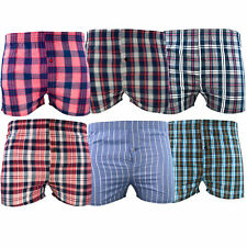 Mens Woven Boxer Shorts 6 12 Pairs Cotton Rich Underwear S M L XL XXL 3XL New