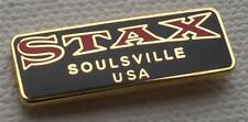 NORTHERN SOUL BADGE - STAX SOULSVILLE USA - BLACK OR RED