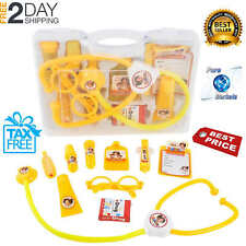 Play Pretend Medical Doctor Kids Playset Tools Toys Carry Case Family Nurse