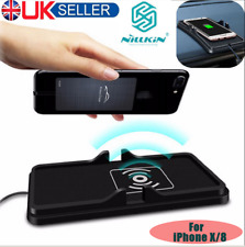 2in1 Qi Wireless Fast Charger Car Dashboard Phone Holder Mount Non-Slip Mat BY
