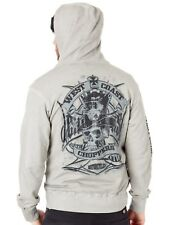Sweat zippé à capuche West Coast Choppers Cash Only Vintage Gris