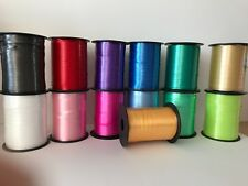 Curling Ribbon-Baby Pink, Gold,Cerise,Red,Black,Blue,Emerald,Lime,White.Silver+