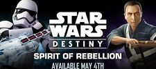 Star Wars Destiny Singles - Spirit of Rebellion - Cartas  Raras - Rare -Con dado