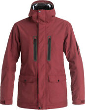 QUIKSILVER DARK AND STORMY JACKET POMEGRANADE