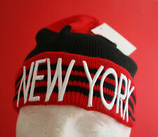 """New York"" Knitted beanie cap, one size fits all , £3.99 only"