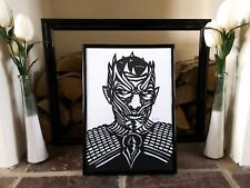 Game Of thrones, The Night King, Game of Thrones Papercut Art, Framed Paper Art